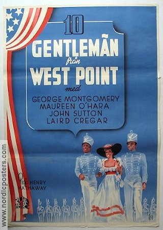 Ten Gentlemen from West Point 1943 Movie poster George Montgomery