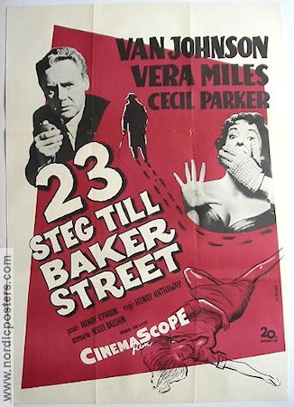 23 Paces to Baker Street 1956 poster Van Johnson