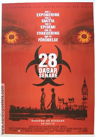 28 Days Later 2002 Movie poster Cillian Murphy