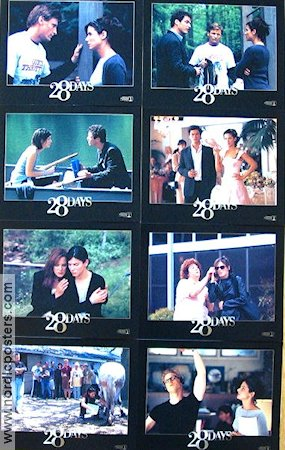 28 Days 1999 lobby card set Sandra Bullock