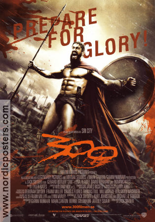 300 2007 Movie poster Gerard Butler Zack Snyder