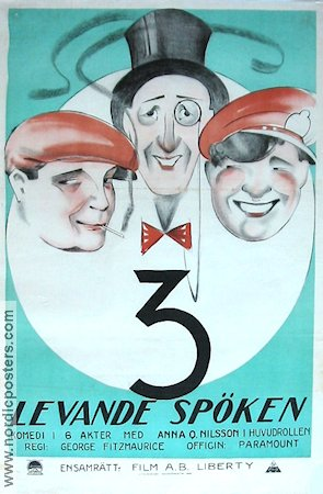 Three Live Ghosts 1922 poster Anna Q Nilsson