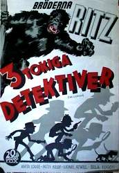 The Gorilla 1939 poster Ritz Brothers