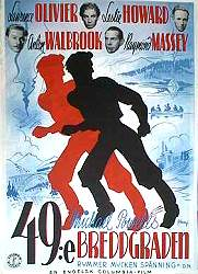 49th Parallel 1941 poster Laurence Olivier