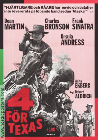4 for Texas 1963 Frank Sinatra Dean Martin Anita Ekberg Ursula Andress Three Stooges