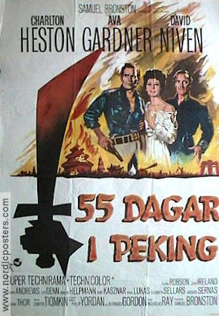 55 days at peking movie poster 1963 original nordicposters