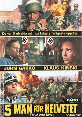 Five for Hell 1969 Movie poster Klaus Kinski