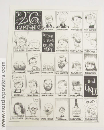 26 Cartoonists I Have Recently Met Signed No 78 of 100 2008 poster