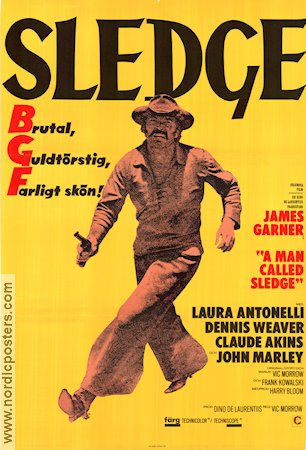 a man called sledge movie poster 1971 original nordicposters
