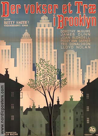 A Tree Grows In Brooklyn Poster Denmark 1945 Dorothy