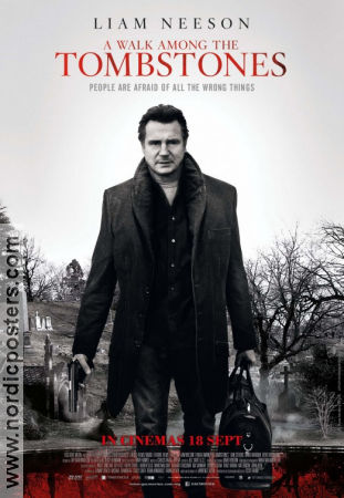 A Walk Among the Tombstones 2014 poster Liam Neeson Scott Frank
