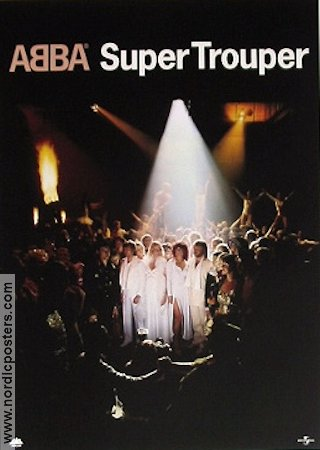 ABBA Super Trouper CD poster 1992 poster ABBA