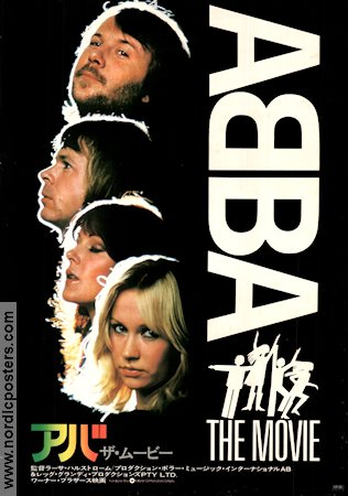 ABBA the Movie 1977 Movie poster ABBA Lasse Hallstr�m