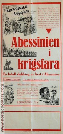 Abessinien i krigsfara 1935 Movie poster