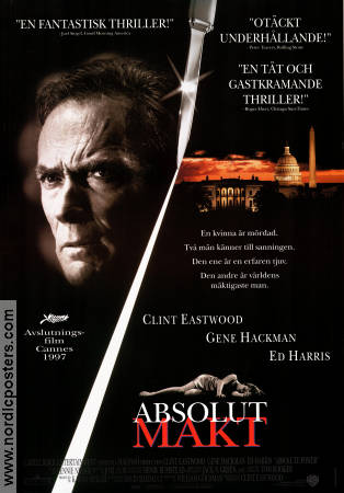 Absolute Power 1997 Movie poster Clint Eastwood