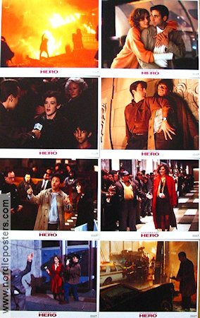 Accidental Hero 1992 lobby card set Dustin Hoffman