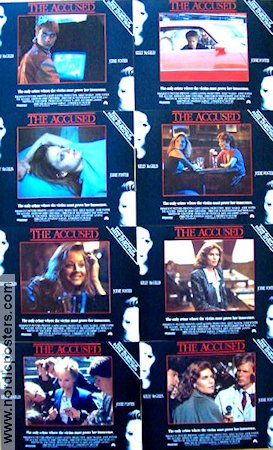 The Accused 1988 lobby card set Jodie Foster