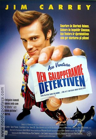 Ace Ventura: Pet Detective 1994 poster Jim Carrey Tom Shadyac