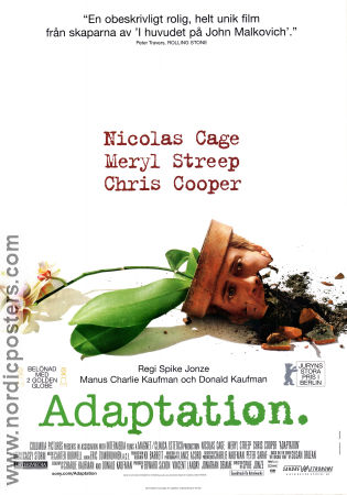 Adaptation 2003 poster Nicolas Cage Spike Jonze