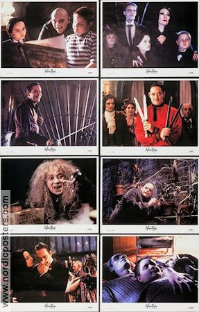 The Addams Family 1991 lobby card set Anjelica Huston