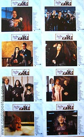 Addams Family Values 1993 lobby card set Anjelica Huston Barry Sonnenfeld