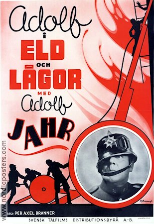 Adolf i eld och l�gor 1939 Movie poster Adolf Jahr