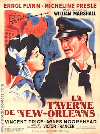 Adventures of Captain Fabian 1951 poster Errol Flynn