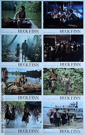 The Adventures of Huck Finn 1989 lobby card set Elijah Wood