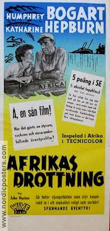 The African Queen 1951 poster Humphrey Bogart John Huston