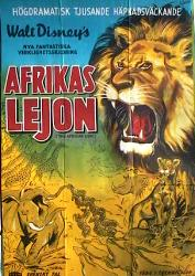 The African Lion 1956 poster Disney