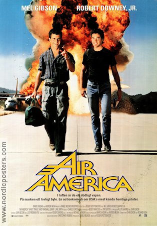 Air America 1990 Movie poster Mel Gibson