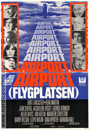 Airport 1970 Movie poster Burt Lancaster