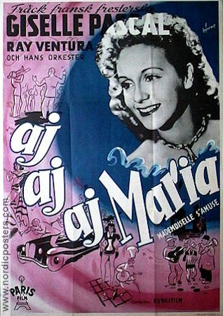 Mademoiselle s'amuse 1949 Movie poster Giselle Pascal