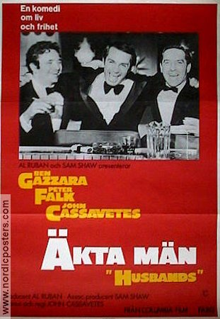 Husbands 1971 poster Peter Falk John Cassavetes