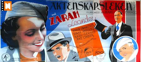 See a larger version of Zarah Leander Äktenskapsleken (1941)