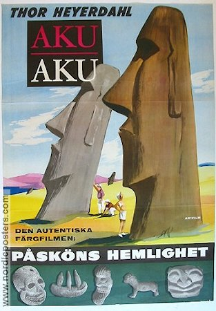 Aku Aku 1960 Movie poster Thor Heyerdahl