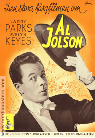 The Jolson Story 1946 poster Larry Parks Alfred E Green