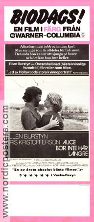 Alice doesn´t Live Here Any More 1974 poster Ellen Burstyn Martin Scorsese