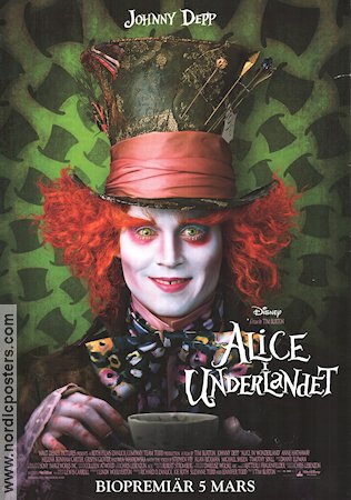 Alice in Wonderland 2010 poster Johnny Depp Tim Burton
