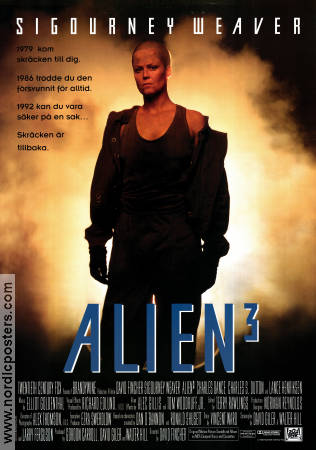 Alien 3 1994 Movie poster Sigourney Weaver David Fincher