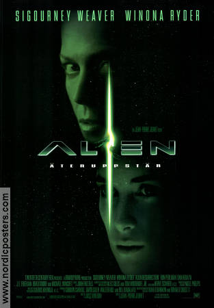 Alien Resurrection 1997 Movie poster Sigourney Weaver Jean-Pierre Jeunet