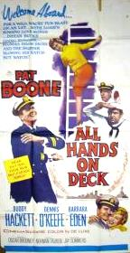 All Hands on Deck 1961 Movie poster Pat Boone