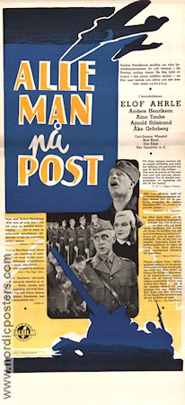 Alle man p� post 1940 Movie poster Elof Ahrle