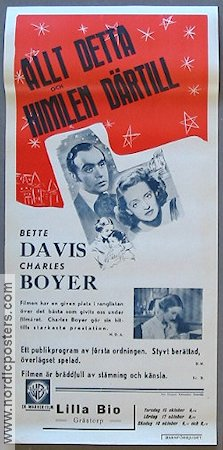 All This and Heaven Too 1940 Charles Boyer Bette Davis