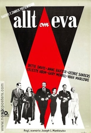 All About Eve 1950 Movie poster Bette Davis Joseph L Mankiewicz
