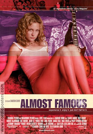 Almost Famous 2000 poster Kate Hudson Cameron Crowe