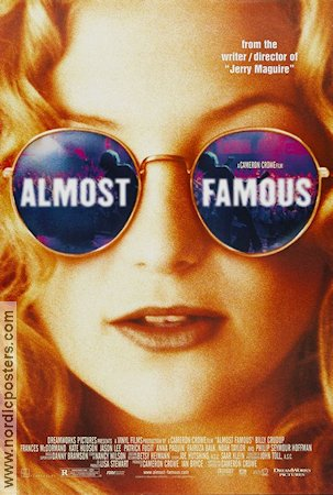 Almost Famous 2000 movie poster Kate Hudson Cameron Crowe