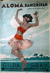 Aloma of the South Seas 1926 poster Gilda Gray