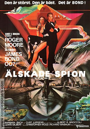 The Spy Who Loved Me 1977 Movie poster Roger Moore Lewis Gilbert