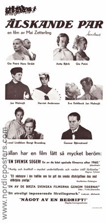 Loving Couples 1964 poster Harriet Andersson Mai Zetterling